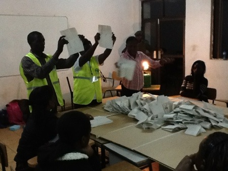 Counting in Nairobi suburb